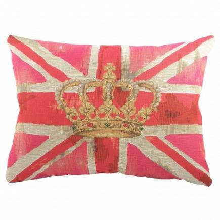 Большая подушка с британским флагом Crown Pink DG Home Pillows DG-D-PL293