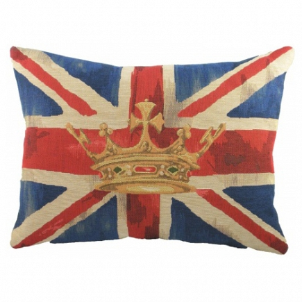 Большая подушка с британским флагом Crown Blue DG Home Pillows DG-D-PL294