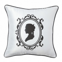 Подушка с принтом Ladies' Profile White DG Home Pillows