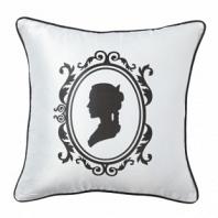 Подушка с принтом Ladies' Profile White DG Home Pillows
