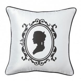 Подушка с принтом Ladies' Profile White DG Home Pillows DG-D-PL29W