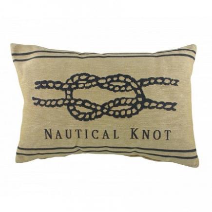 Подушка с надписью Nautical Knot Natural DG Home Pillows DG-D-PL303
