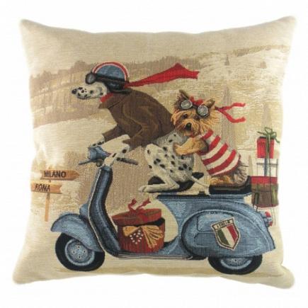Подушка с принтом Scooter Dogs Blue DG Home Pillows DG-D-PL314