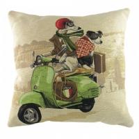 Подушка с принтом Scooter Dogs Green DG Home Pillows