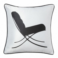 Подушка с принтом Japanese Lounge  White DG Home Pillows