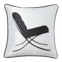 Подушка с принтом Japanese Lounge  White DG Home Pillows