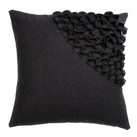 Подушка с объемным узором Alicia Dark Gray 2 DG Home Pillows DG-D-PL404