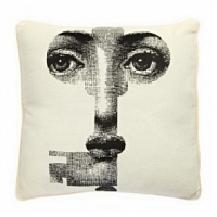 Подушка с принтом Faces Piero Fornasetti Four DG Home Pillows