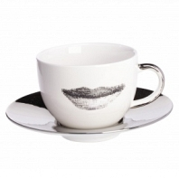 Чайная пара Faces Piero Fornasetti Silver DG Home Tableware