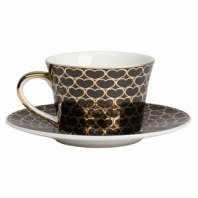 Чайная пара Hearts Black DG Home Tableware