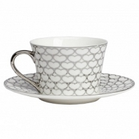 Чайная пара Hearts White DG Home Tableware