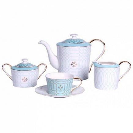 Чайный сервиз Turquoise Veil на 4 персоны (11 предметов) DG Home Tableware DG-DW94-12