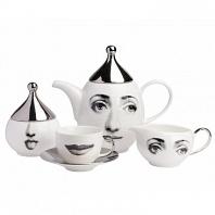 Чайный сервиз Silver Faces на 4 персоны (11 предметов) DG Home Tableware