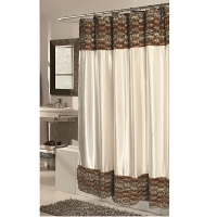 Шторка Carnation Home Fashions Shower Curtains Zuri Leopard Wave Fur/Ivory