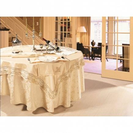Скатерть круглая с 6 салфетками Asabella Tablecloths D-180 см K1-10