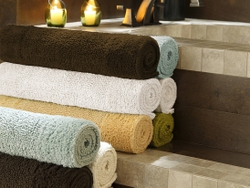 Kassatex Bamboo Reversible Bath Rugs