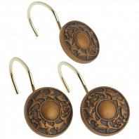 Набор из 12 крючков для шторки Carnation Home Fashions Regency Bronze
