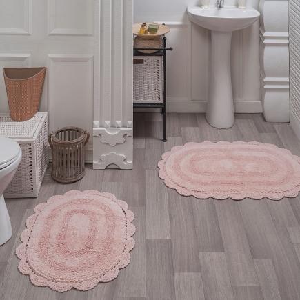 Набор ковриков для ванной кружевной Sofi de Marko Bath Mats Diana S.044абрикос