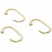 Набор из 12 крючков для шторки Carnation Home Fashions Hook C Type Brass