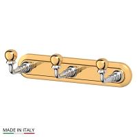 Планка 3SC Stilmar Chrome-Gold с тремя крючками