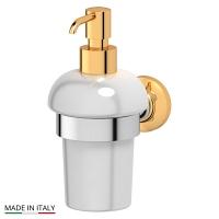 Держатель с емкостью для жидкого мыла 3SC Stilmar Chrome-Gold