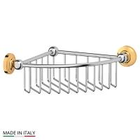 Полочка-решетка 3SC Stilmar Chrome-Gold угловая 23см