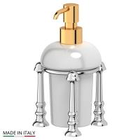 Емкость для жидкого мыла 3SC Stilmar Chrome-Gold настольная