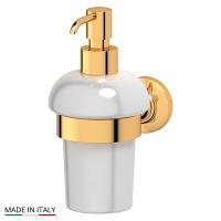 Держатель с емкостью для жидкого мыла 3SC Stilmar Gold