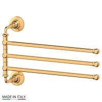Держатель полотенец 3SC Stilmar Gold поворотный тройной 35 см