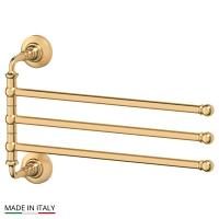 Держатель полотенец 3SC Stilmar Matte Gold поворотный тройной 35 см