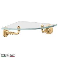 Полка 3SC Stilmar Matte Gold стеклянная угловая 22см