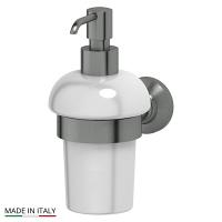Держатель с емкостью для жидкого мыла 3SC Stilmar Antique Silver