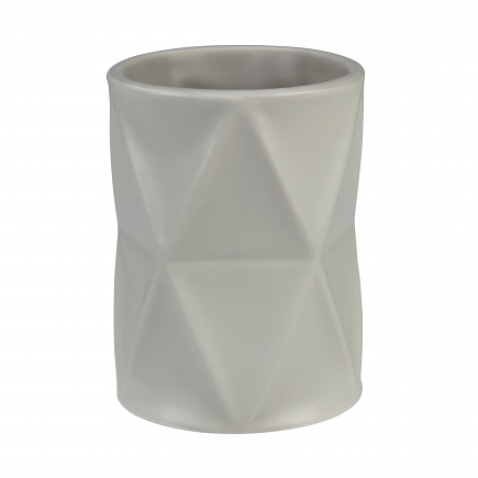 Стакан для зубной пасты Creative Bath Triangles TRI11NAT