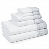 Полотенце для рук Kassatex Valencia Slate