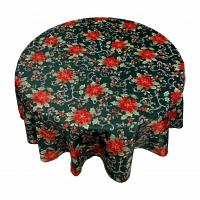 Кухонная скатерть 152х213 см Carnation Home Fashions Tablecloths Poinsettia