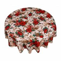 Кухонная скатерть круглая 178 см Carnation Home Fashions Tablecloths Holiday Cheer