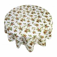 Кухонная скатерть круглая 178 см Carnation Home Fashions Tablecloths Holly