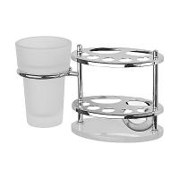 Держатель для зубных щеток и пасты FBS Standard со стаканом