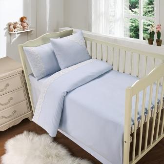 Кружево из облаков (голуб) Комплект дет. Sofi de Marko Bedding Sets Baby Сатин Д.-778-гол