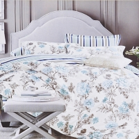 Таисия (голубая) КПБ сатин Евро 4н Sofi de Marko Bedding Sets