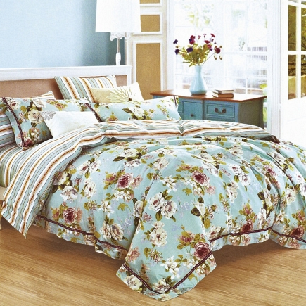 Горделия КПБ сатин Евро 4н Sofi de Marko Bedding Sets Евро-3332