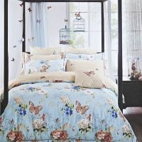 Гретта (голубая) КПБ сатин Евро 4н Sofi de Marko Bedding Sets