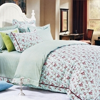 Дженни (ментол) КПБ сатин Евро 4н Sofi de Marko Bedding Sets