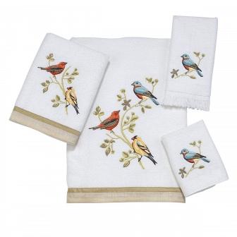 Полотенце банное Avanti Gilded Birds 019841WHT