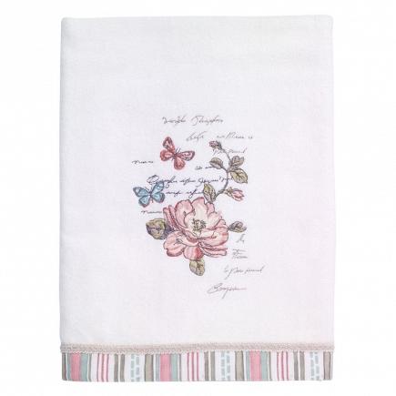 Полотенце банное Avanti Butterfly Garden 68х127см 038821WHT
