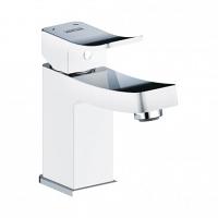 Смеситель для раковины WasserKRAFT Aller White комбинированное покрытие