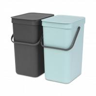 Набор ведер для мусора Brabantia Sort&Go 12л (2шт)