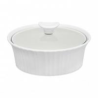 Форма для запекания круглая с крышкой CorningWare French White 1,4л