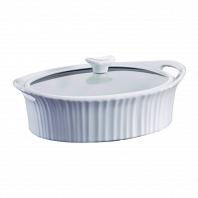 Форма для запекания овальная с крышкой с прокладкой CorningWare French White 2,3л