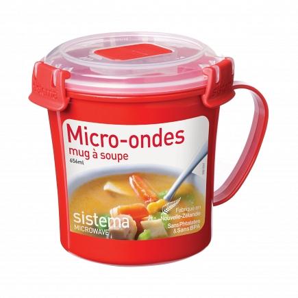 Кружка суповая Sistema Microwave 656мл 1107